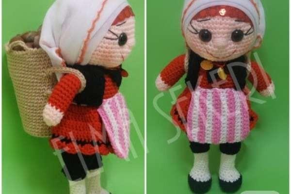 Amigurumi Karadeniz kızı yapımı