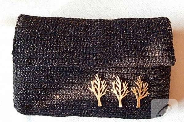 Tığ işi abiye çanta yapımı